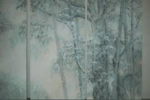 「雪中竹林図」